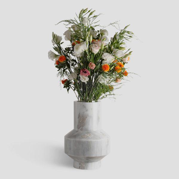 Venta de florero de mármol blanco